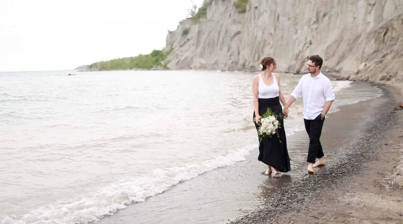 Scarborough bluffs wedding video, scarborough bluffs wedding, scarborough bluffs vow renewal, peterborough wedding videographer, ontario wedding videographer, peterborough wedding videography,